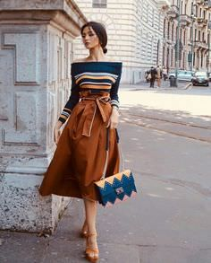 Atemberaubendes Kleid oder Pullover mit hohem Taillenrock so oder so ich liebe es Mode Outfits, Dress Outfits, Fall Outfits, Fashion Outfits, Womens Fashion, Fashion Trends, Sweater Skirt Outfit, Full Skirt Outfit, Long Skirt Outfits