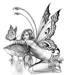 Cute fairy tattoo for back Fairy Tattoo Designs, Tattoo Designs For Women, Tattoos For Women, Elfen Fantasy, Fantasy Art, Cute Tattoos, Body Art Tattoos, Tatoos, Tattoo Art