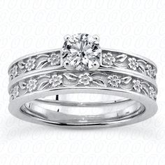 Diamond Engagement Set available at Jenkins Jewelers in Midland and Gladwin, MI  #engagement #ring #diamond