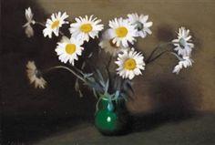 Clarice Beckett - Still Life, Daisies