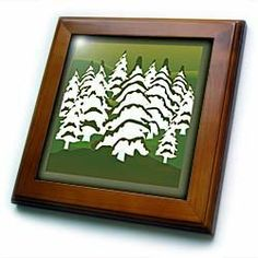 "Abstract White Pines On Green - 8x8 Framed Tile by Florene. $22.99. Keyhole in the back of frame allows for easy hanging.. Cherry Finish. Solid wood frame. Inset high gloss 6"" x 6"" ceramic tile.. Dimensions: 8"" H x 8"" W x 1/2"" D. Abstract White Pines On Green Framed Tile is 8"" x 8"" with a 6"" x 6"" high gloss inset ceramic tile, surrounded by a solid wood frame with predrilled keyhole for easy wall mounting."