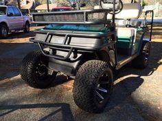 Grizzly Metalworks' EZGO TXT, Marathon, ST & Workhorse Heavy Duty Front Brush Guard with welded light bar for off road lights; Precision Handcrafted in the USA!