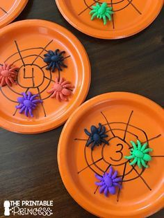 Spiders in a Web: A cute counting game where students count the spiders and put…