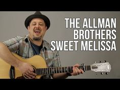 Southern Blues Rock Allman Brothers Guitar Lesson - Sweet Melissa - Acoustic Guitar Lessons - YouTube