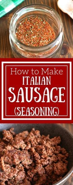 Easy Homemade Italian Sausage Seasoning - simple seasoning blend you can use for ground meat, vegetables, potatoes, and more! (italian sausage recipes whole Italian Sausage Seasoning, Homemade Italian Sausage, Homemade Sausage Recipes, Italian Sausage Recipes, Homemade Spices, Homemade Seasonings, Homemade Italian Seasoning, Homemade Sushi, Italian Cooking