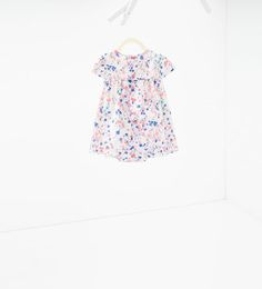 Image 2 of Shiny stripes and floral dress from Zara