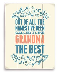 Look at this 'Out of All the Names' Wall Art on #zulily today!