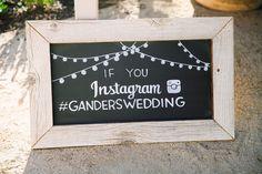 """If you Instagram"" wedding chalkboard sign"