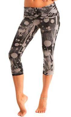 Barefoot Yoga Co. | OMgirl  Ahimsa Capri  Vintage Bubbly  in Organic Cotton