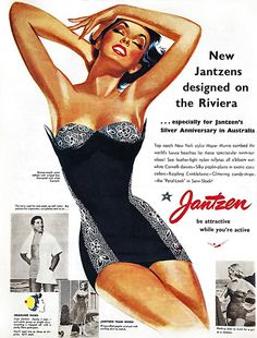 1953 Jantzen ad... Be attractive while you're active!