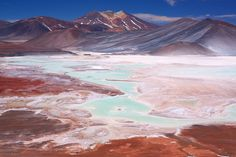 Salar de Atacama (salt flat of Atacama), Chile. Atacama desert is the oldest non-polar desert on earth. It's Mars-like surface has been used both for scientific experiments for Mars exploration and movies.