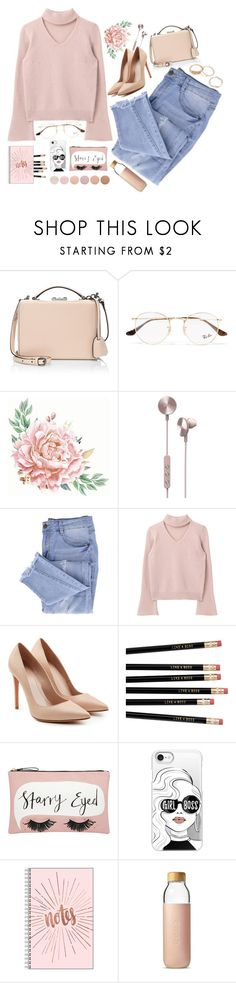 """""""I'm the queen of my own little world"""" by elliyxn ❤ liked on Polyvore featuring Mark Cross, Ray-Ban, i.am+, Essie, Alexander McQueen, Accessorize, Casetify, Soma and Deborah Lippmann"""