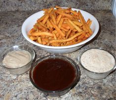 Sweet Potato Fry Dipping Sauces {Spicy Ranch, Sweet Barbecue & Cinnamon Honey Butter}