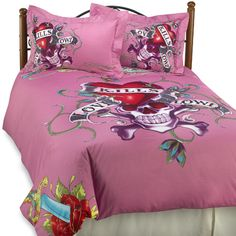 """Goth"" home furnishings by Ed Hardy"
