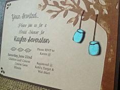 Handmade Mason Jar, Tree Bridal Shower Invitation on Etsy, $2.50