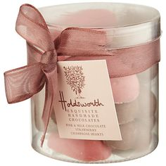 Buy Holdsworth Popping Hearts Tub, from our Gift Food & Alcohol range at John Lewis & Partners. Valentine Treats, Valentines, Strawberry Champagne, Handmade Chocolates, Food Gifts, Christmas Presents, Tub, Alcohol, Valentine's Day