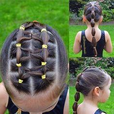 Beautiful Hairstyles Elastic gymnastic Hair Source by nicholefinney Childrens Hairstyles, Lil Girl Hairstyles, Pretty Hairstyles, Toddler Hairstyles, School Hairstyles, Everyday Hairstyles, Hairdos, Hairstyles Haircuts, Wedding Hairstyles