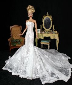 Black Barbie Bride Doll – Fashion dresses Barbie Bridal, Barbie Wedding Dress, Wedding Doll, Barbie Gowns, Barbie Dress, Barbie Clothes, Wedding Dresses, Bridal Gowns, Barbie E Ken