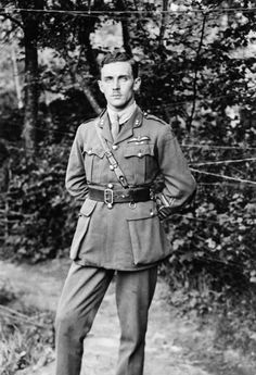 FIGHTER PILOTS FIRST WORLD WAR (Q 68000) Portrait of Ferdinand Maurice Felix West RAF, awarded the Victoria Cross: France, 10 August 1918.