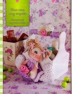 Eu Amo Artesanato: Enfeite de porta de bonequinho, Bebe de feltro, Bonequinha, com molde e passo a passo