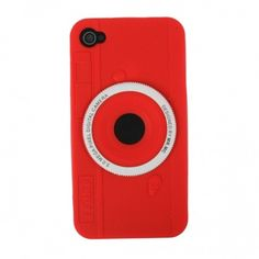 Red Camera Silicone Case for Apple iPhone 4/4S