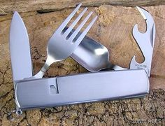 G SAKAI CAMPING Camp HOBO FORK SPOON MULTI KNIFE SHEATH Folding at SunBlades Booth
