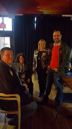 Anna, Andrew & Lola meet Justin DiCiano at 2017 Merchant Mingle