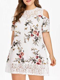Cold Shoulder Lace Dress Curvy Fashion Queen - April 14 2019 at Plus Size Dresses, Plus Size Outfits, Short Dresses, Summer Dresses, Peplum Dresses, Plus Size Kleidung, Curvy Dress, Stylish Plus, Straight Dress