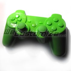Glossy Green PS3 Dualshock 3 Controller Shell with Matching Buttons. Available on www.wecustomize.co.uk with installation if needed!