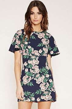 Contemporary Floral Print Dress