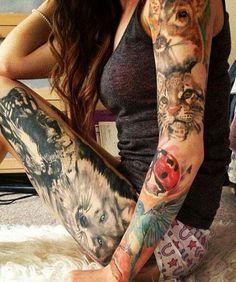Animal tattoo... I LOVE THIS!! so amazing!!