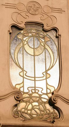 cardmaking inspiration ... photo of Art Deco window ... Torino liberty  Italy ... warm earthy colors ... would look great with gold embossed vellum frame with fancy label die cut  ...