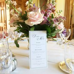 Wedding table styling #details #menu | The Mansion House Bristol | www.theplanninglounge.co.uk Victorian Buildings, Mansions Homes, Bristol, Menu, House, Wedding Venues, Wedding Table, Style, Table Decorations