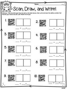QR Codes Addition Scavenger Hunt: Let students take learning into their own hands and go on a scavenger hunt as they search for sums of addition facts!