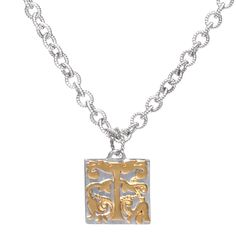 Sterling silver necklace with raised gold plate detail  £400