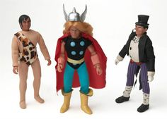 """Mego superheroes, from """"Whatever Happened to Pudding Pops?"""""""