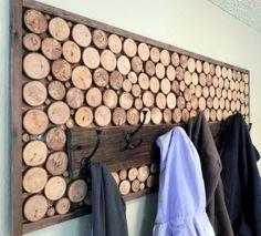 Wood Coat Rack Hooks, Rustic Modern. $263.00, via Etsy.