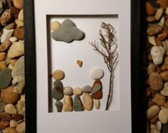 Stone Art Pebble Art Rock Art 3D Art Unique Gift