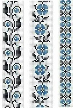 Easiest Crochet Frills Border Ever! Cross Stitch Bookmarks, Cross Stitch Borders, Crochet Borders, Cross Stitch Flowers, Cross Stitch Designs, Cross Stitching, Cross Stitch Embroidery, Embroidery Patterns, Hand Embroidery