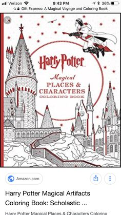 24 Page Harry Potter Coloring Book Secret Garden Series Price