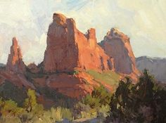 Mountains of Stone by Bill Cramer Oil ~ 9 x 12