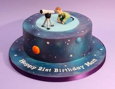Image result for telescope cake ideas