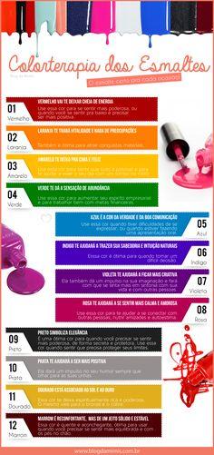 Colorterapia dos esmaltes - Nail World Pedicure Nail Art, Pedicure Colors, Pedicure At Home, Nail Colors, Hair And Nails, My Nails, Nail Saloon, Spa Pedicure Chairs, Nail Salon Decor