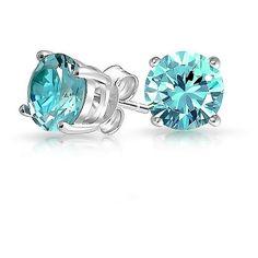 Bling Jewelry Aqua Twinkle Studs ($15) ❤ liked on Polyvore featuring jewelry, earrings, blue, stud-earrings, stud earring set, artificial jewellery, fake earrings, blue stud earrings and blue jewelry