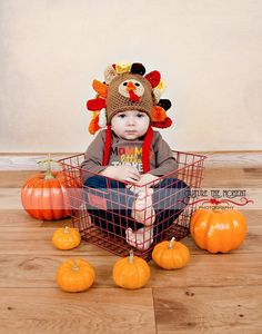 crochet turkey hat. I so wanna do this. So cute!!!