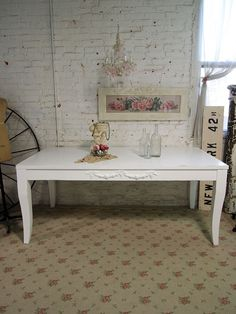 Painted Cottage Chic Shabby White Farmhouse by paintedcottages, $425.00