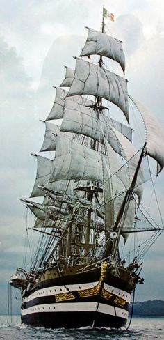 Sailing Ship Amerigo Vespucci Italian Training Ship