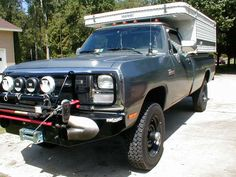 lets see some pics of the baddest trucks out there! Dodge Cummins, Dodge Trucks, First Gen Cummins, Camper Caravan, Campers, Overland Trailer, Dodge Power Wagon, Truck Camping, Auto Racing