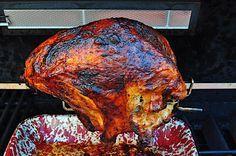 Spice Rubbed Rotisserie Turkey Breast Turkey Rub, Bbq Turkey, Grilled Turkey, Smoked Turkey, Turkey Breast, Turkey Legs, Turkey Time, Rotisserie Turkey, Rotisserie Grill