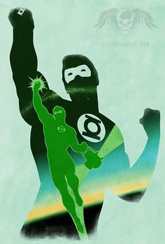 JLA: Hal Jordan Minimalist by greymatterdesign.deviantart.com on @deviantART